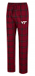 "Virginia Tech Hokies NCAA ""Homestretch"" Men's Flannel Pajama Sleep Pants"