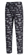 "Oakland Raiders NFL ""Midfield"" Men's Polyester Blend Pajama Sleep Pants"