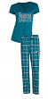 "Philadelphia Eagles NFL ""Super Duo"" Women's T-shirt & Flannel Pants Sleep Set"