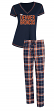"Denver Broncos NFL ""Super Duo"" Women's T-shirt & Flannel Pants Sleep Set"