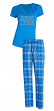 "Detroit Lions NFL ""Super Duo"" Women's T-shirt & Flannel Pants Sleep Set"