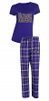 "Baltimore Ravens NFL ""Super Duo"" Women's T-shirt & Flannel Pants Sleep Set"