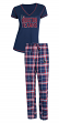 "Houston Texans NFL ""Super Duo"" Women's T-shirt & Flannel Pants Sleep Set"