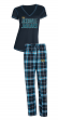 "Jacksonville Jaguars NFL ""Super Duo"" Women's T-shirt & Flannel Pants Sleep Set"