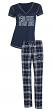 "Penn State Nittany Lions NCAA ""Duo"" Women's T-shirt & Flannel Pants Sleep Set"