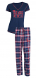 Mississippi Ole Miss Rebels Super Duo Women's T-shirt & Flannel Pants Sleep Set