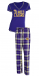 "Los Angeles Lakers NBA ""Super Duo"" Women's T-shirt & Flannel Pants Sleep Set"
