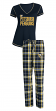 "Pittsburgh Penguins NHL ""Super Duo"" Women's T-shirt & Flannel Pants Sleep Set"