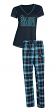 "San Jose Sharks NHL ""Super Duo"" Women's T-shirt & Flannel Pants Sleep Set"