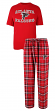 "Atlanta Falcons NFL ""Great Duo"" Men's T-shirt & Flannel Pants Sleep Set"