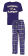 "Baltimore Ravens NFL ""Great Duo"" Men's T-shirt & Flannel Pants Sleep Set"