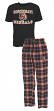 "Cincinnati Bengals NFL ""Great Duo"" Men's T-shirt & Flannel Pants Sleep Set"