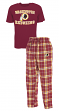 "Washington Redskins NFL ""Great Duo"" Men's T-shirt & Flannel Pants Sleep Set"
