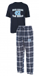 North Carolina Tarheels NCAA Great Duo Men's T-shirt & Flannel Pants Sleep Set