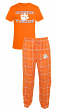 "Clemson Tigers NCAA ""Great Duo"" Men's T-shirt & Flannel Pants Sleep Set"