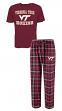 "Virginia Tech Hokies NCAA ""Great Duo"" Men's T-shirt & Flannel Pants Sleep Set"