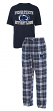 Penn State Nittany Lions NCAA Great Duo Men's T-shirt & Flannel Pants Sleep Set