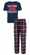 "Mississippi Ole Miss Rebels ""Great Duo"" Men's T-shirt & Flannel Pants Sleep Set"