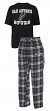 "San Antonio Spurs NBA ""Great Duo"" Men's T-shirt & Flannel Pants Sleep Set"