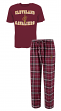 "Cleveland Cavaliers NBA ""Great Duo"" Men's T-shirt & Flannel Pants Sleep Set"