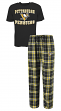 "Pittsburgh Penguins NHL ""Great Duo"" Men's T-shirt & Flannel Pants Sleep Set"