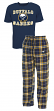 "Buffalo Sabres NHL ""Great Duo"" Men's T-shirt & Flannel Pants Sleep Set"