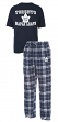 "Toronto Maple Leafs NHL ""Great Duo"" Men's T-shirt & Flannel Pants Sleep Set"
