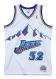 Karl Malone Utah Jazz Mitchell & Ness NBA Swingman 96-97 HWC Jersey - White