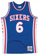 Julius Erving Philadelphia 76ers Mitchell & Ness NBA Swingman 76-77 Jersey - Blue