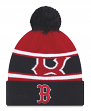 """Boston Red Sox New Era MLB """"Callout Pom"""" Cuffed Knit Hat with Pom"""