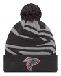 "Atlanta Falcons New Era NFL ""Logo Whiz 3"" Cuffed Knit Hat with Pom - Gray"