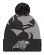 "Carolina Panthers New Era NFL ""Logo Whiz 3"" Cuffed Knit Hat with Pom - Gray"