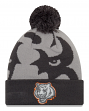 "Cincinnati Bengals New Era NFL ""Logo Whiz 3"" Cuffed Knit Hat with Pom - Gray"