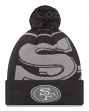 "San Francisco 49ers New Era NFL ""Logo Whiz 3"" Cuffed Knit Hat with Pom - Gray"