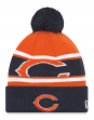 "Chicago Bears New Era NFL ""Callout Pom"" Cuffed Knit Hat with Pom"
