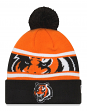 "Cincinnati Bengals New Era NFL ""Callout Pom"" Cuffed Knit Hat with Pom"
