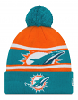 "Miami Dolphins New Era NFL ""Callout Pom"" Cuffed Knit Hat with Pom"