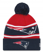 "New England Patriots New Era NFL ""Callout Pom"" Cuffed Knit Hat with Pom"