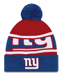 "New York Giants New Era NFL ""Callout Pom"" Cuffed Knit Hat with Pom"