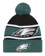 "Philadelphia Eagles New Era NFL ""Callout Pom"" Cuffed Knit Hat with Pom"