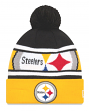"Pittsburgh Steelers New Era NFL ""Callout Pom"" Cuffed Knit Hat with Pom"