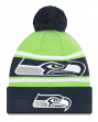 "Seattle Seahawks New Era NFL ""Callout Pom"" Cuffed Knit Hat with Pom"