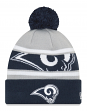 "Los Angeles Rams New Era NFL ""Callout Pom"" Cuffed Knit Hat with Pom"