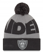 "Oakland Raiders New Era Youth NFL ""JR Logo Whiz 3 Gray"" Cuffed Knit Hat"