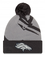 "Denver Broncos New Era Youth NFL ""JR Logo Whiz 3 Gray"" Cuffed Knit Hat"