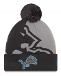 "Detroit Lions New Era Youth NFL ""JR Logo Whiz 3 Gray"" Cuffed Knit Hat"
