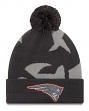 "New England Patriots New Era Youth NFL ""JR Logo Whiz 3 Gray"" Cuffed Knit Hat"