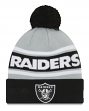 "Oakland Raiders New Era Youth NFL ""Junior Callout"" Cuffed Knit Hat with Pom"