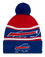 "Buffalo Bills New Era Youth NFL ""Junior Callout"" Cuffed Knit Hat with Pom"
