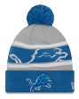 "Detroit Lions New Era Youth NFL ""Junior Callout"" Cuffed Knit Hat with Pom"